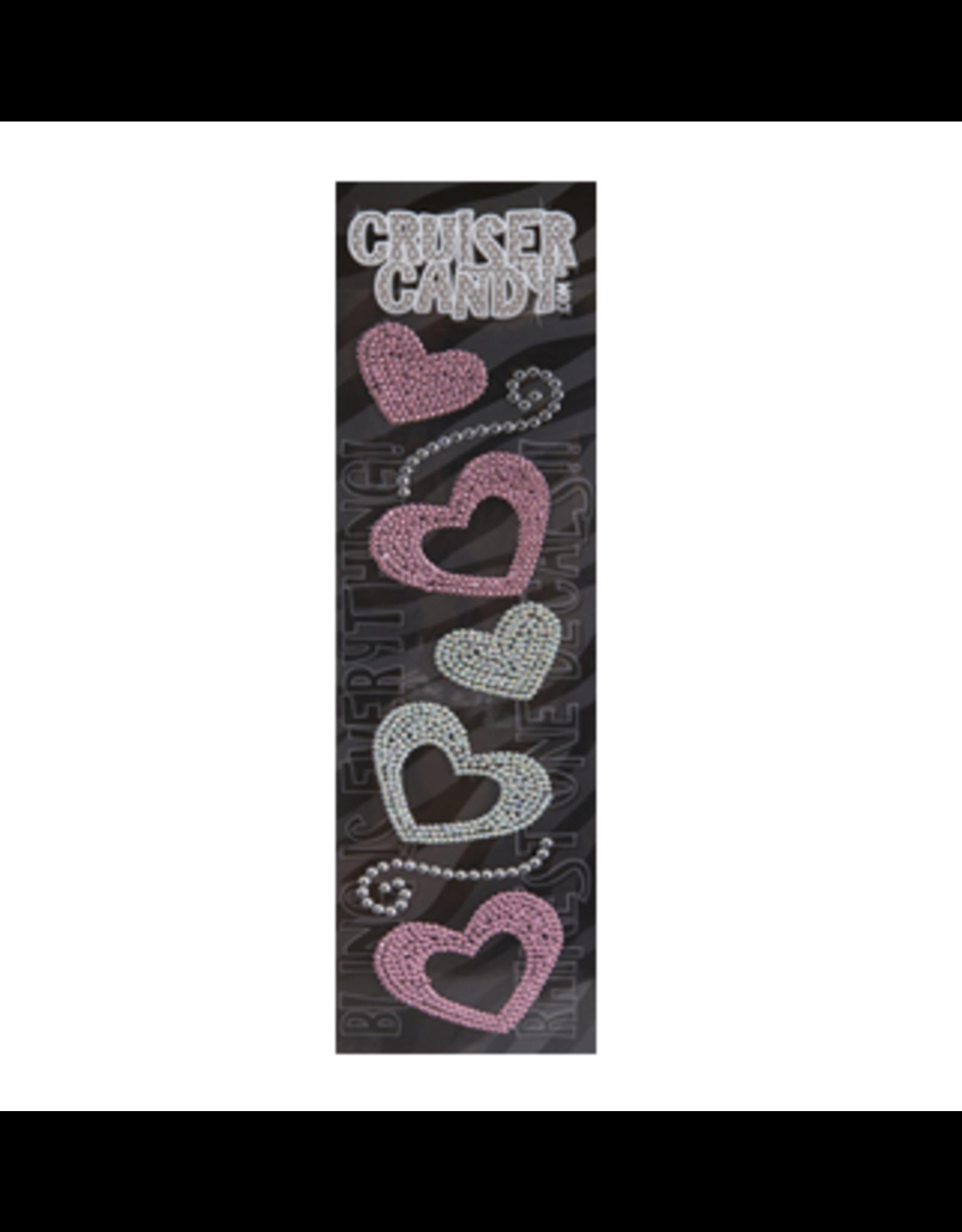 Cruiser Candy Heart Rhinestone Decals