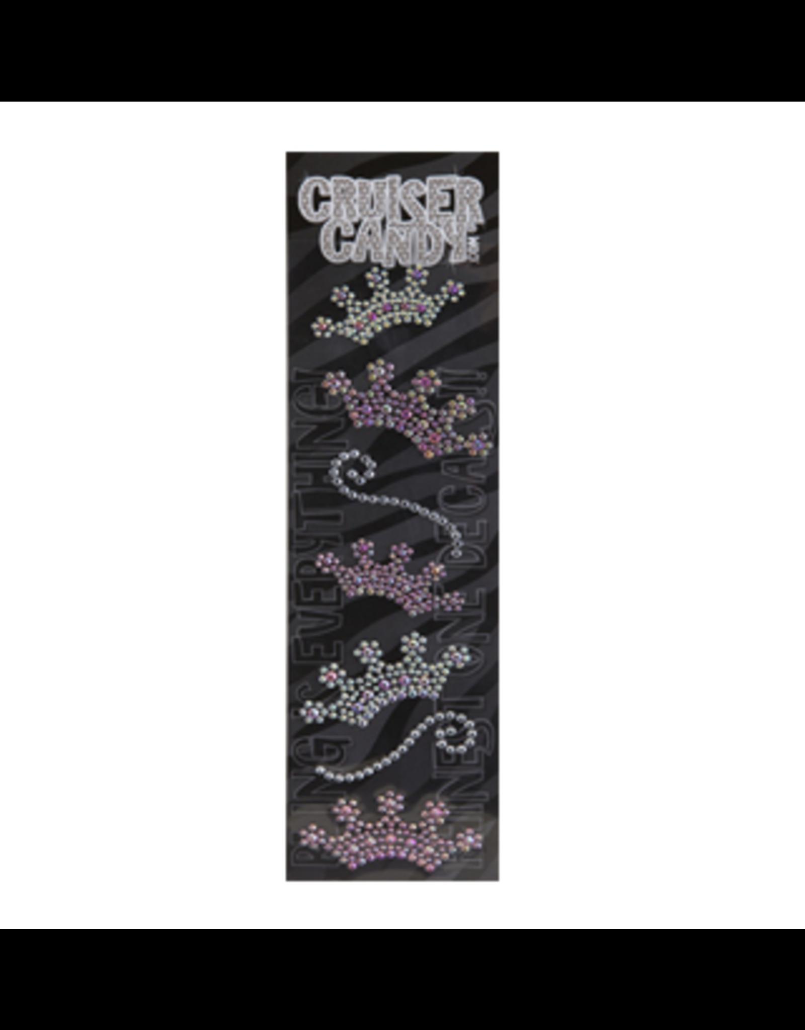 Cruiser Candy Cruiser Candy Decals - Crown Rhinestone