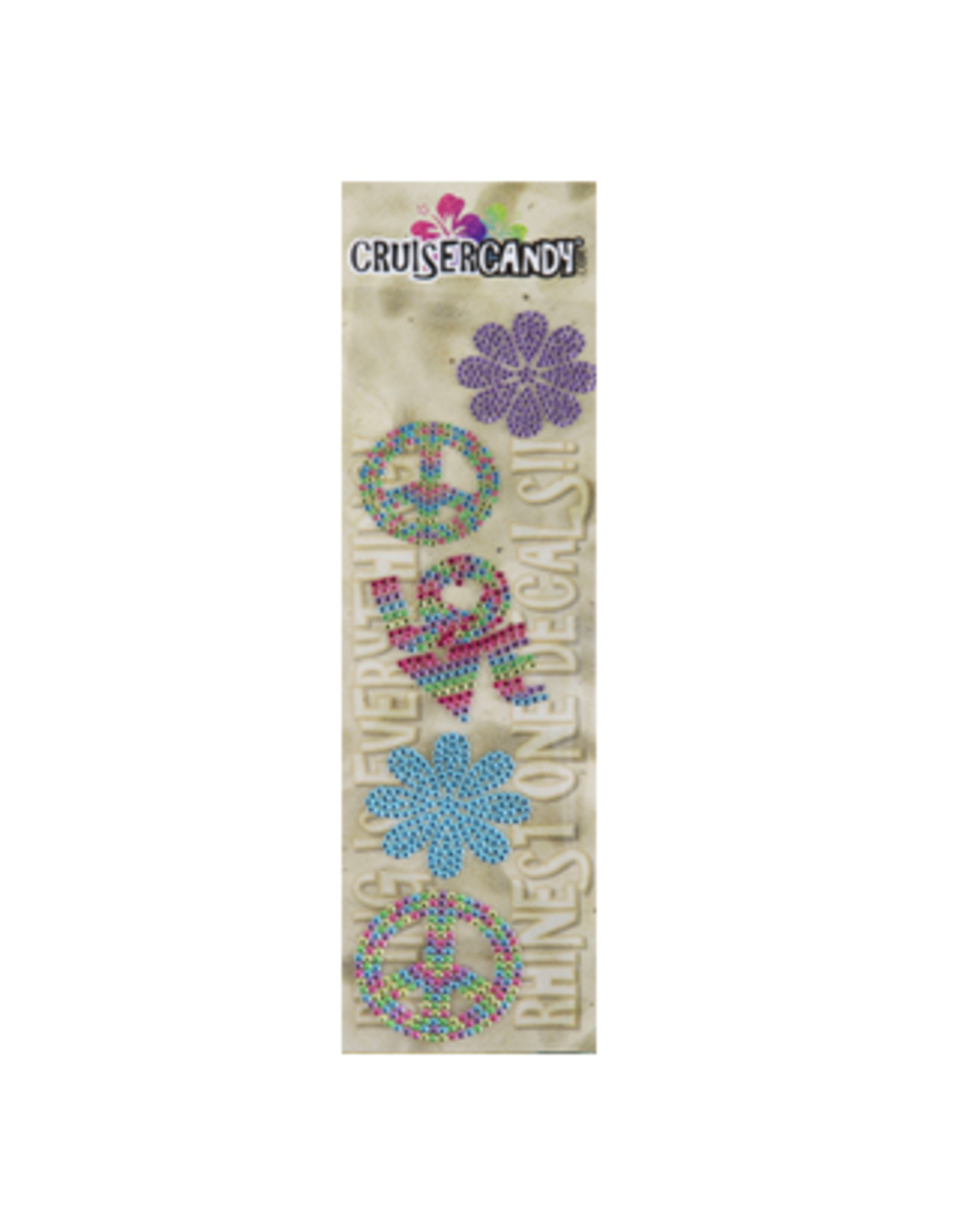 Cruiser Candy Cruiser Candy Decals - Peace Rhinestone