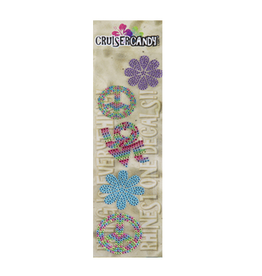 Cruiser Candy Peace Rhinestone Decals