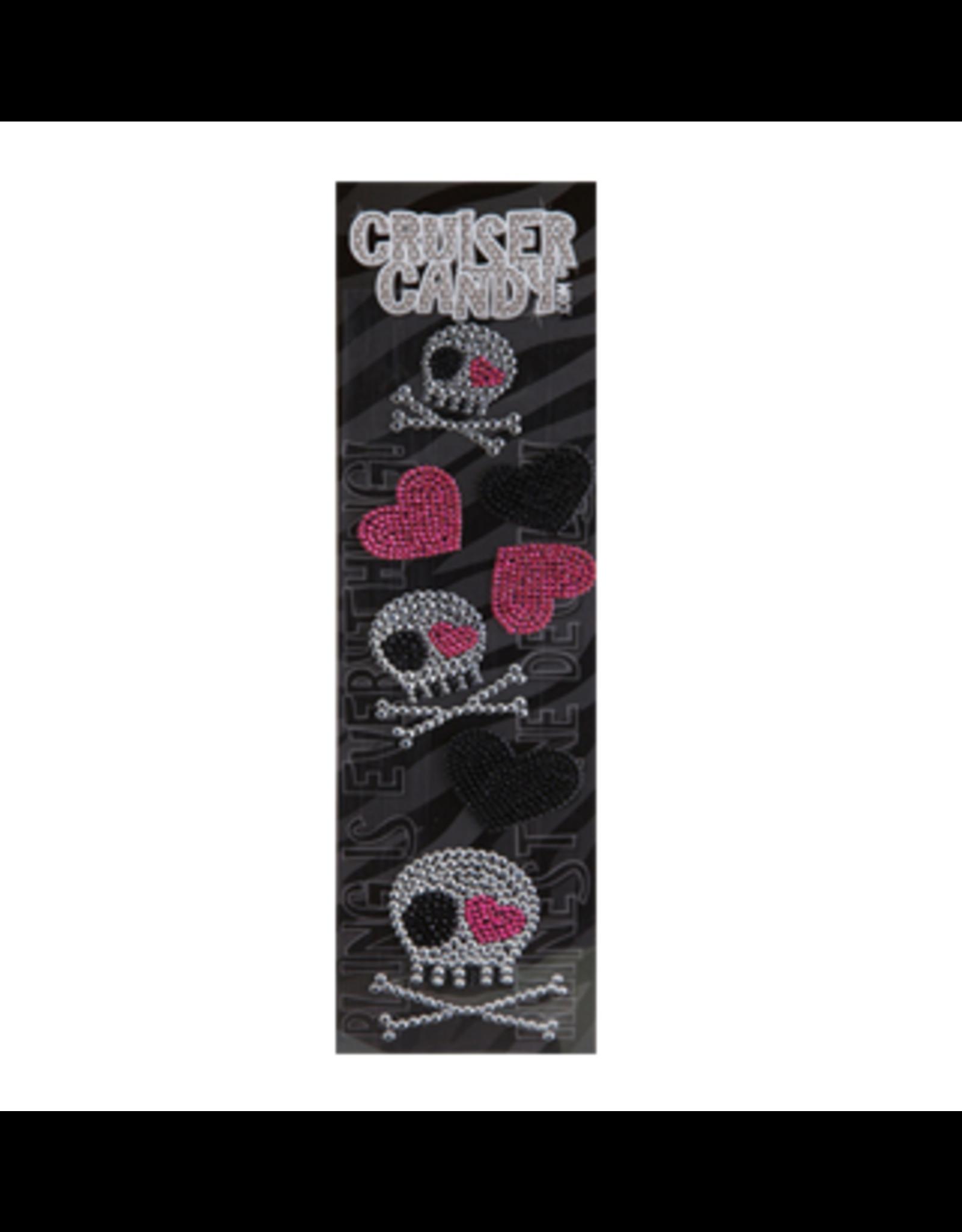 Cruiser Candy Cruiser Candy Decals - Skull Rhinestone