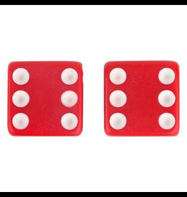 Triktopz Triktopz Red Dice Valve Caps