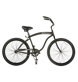 Hermosa Cyclery Schu-eet - Aluminum 7-Speed Cruiser, Step-Over, Matte Black