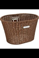 Electra Electra Front Basket - Plastic Woven, Dark Brown