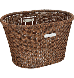 Electra Basket Electra Plastic Woven Dark Brown