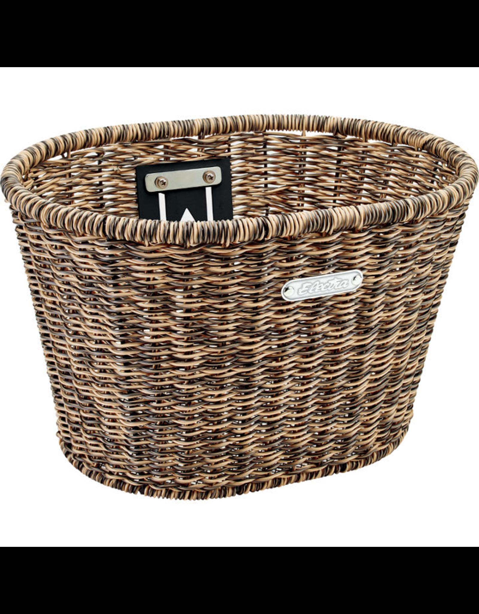 Electra Electra  Front Basket - Plastic Woven Light Brown/Black