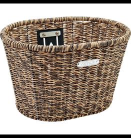 Electra Basket Electra Plastic Woven Light Brown/Black