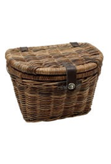 Electra Electra Front Basket - Woven Rattan With Lid, Natural
