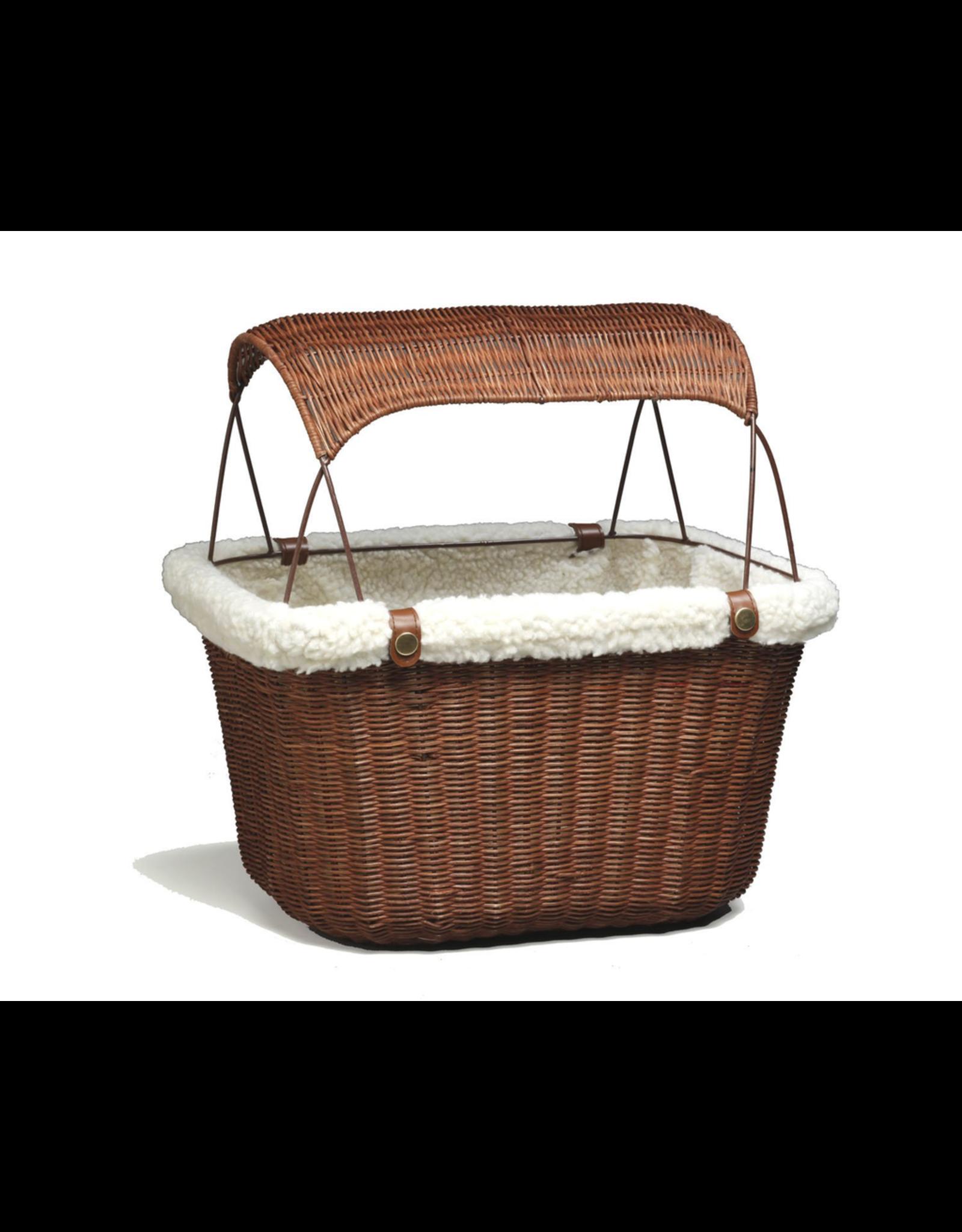 Solvit Solvit Pet Wicker Basket - Includes Sun Shade, Brown