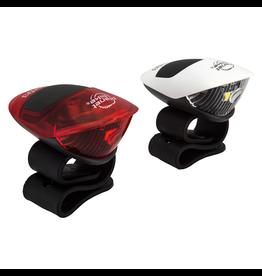 Planet Bike Planet Bike Battery Light - Spok Combo head & taillight set
