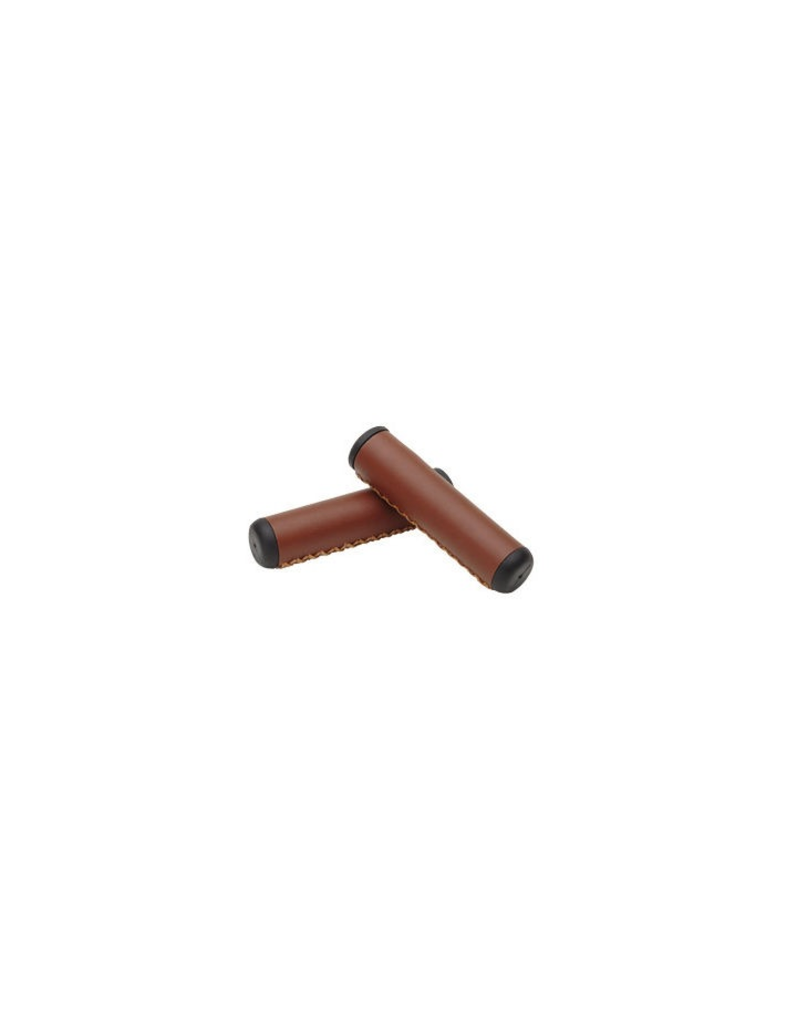 Electra Electra Hand-Stitched Long Grip Set - 125mm, Brown/Black