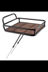 Sunlite Sunlite Front Rack Happy Hauler - 11 Ibs Max, Axle Mount, Black With Wood Deck