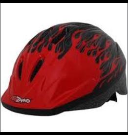 J & B Importers Kidzamo Helmet Red/Black Flame Small/Medium