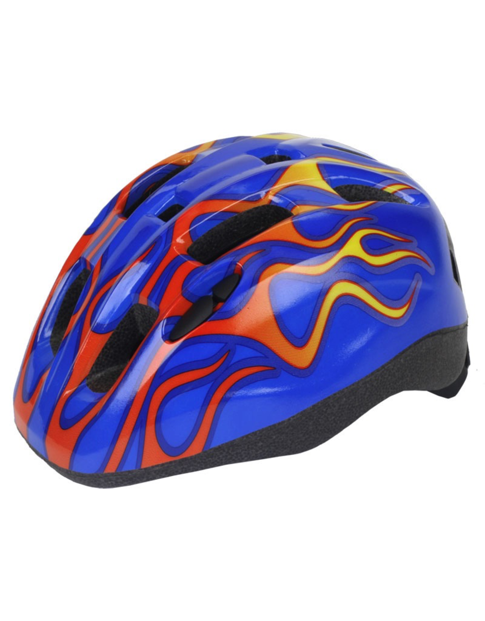 J & B Importers Aerius Xanthus V11iF Toddler Blue Flames Helmet X-Small