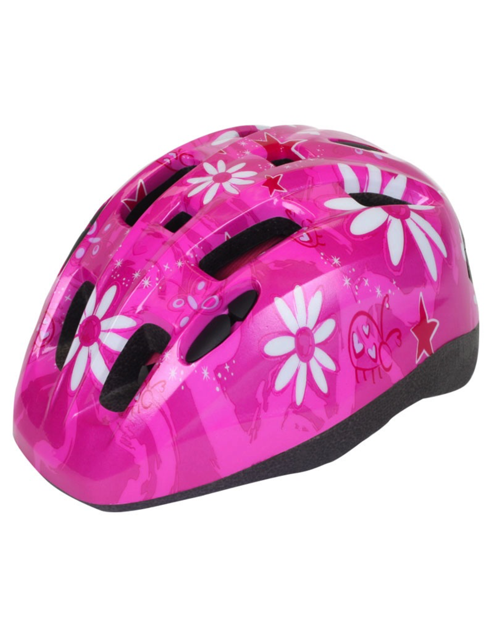 J & B Importers Aerius Xanthus V11iF Toddler Pink Flowers Helmet Small/Medium