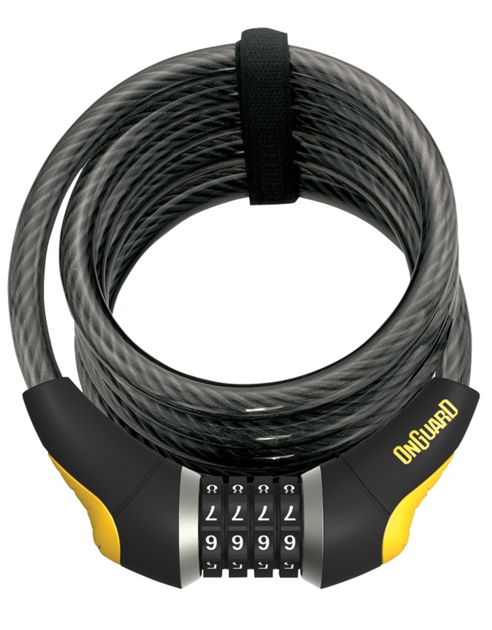 OnGuard OnGuard Doberman 8031, Black/Silver Resettable Combo Lock, 12mm