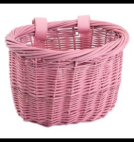 J & B Importers Sunlite Mini Willow Basket, Pink