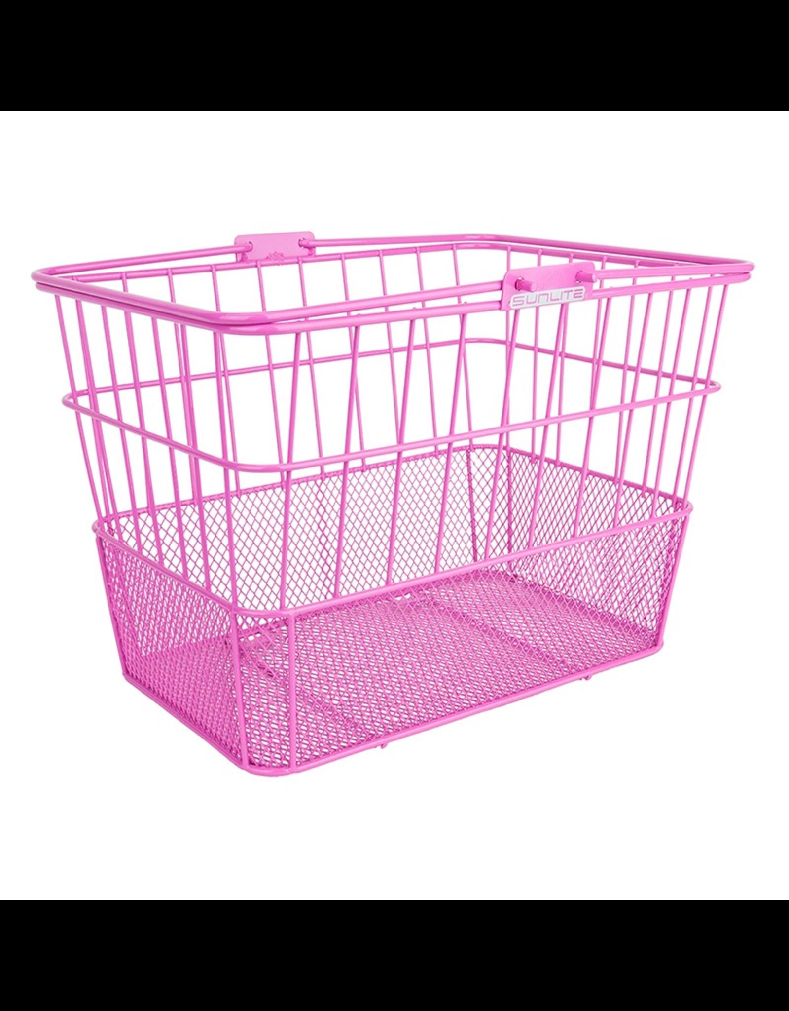 Sunlite SunLite/Ultracycle Front Basket - Mesh Bottom Lift-Off, Pink