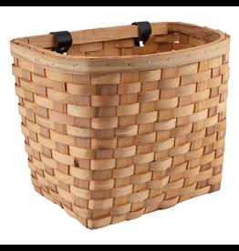 J & B Importers Sunlite Wood Woven Basket Beech Natural