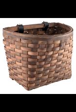 J & B Importers Sunlite Front Basket - Beech Wood Woven, Dark Brown