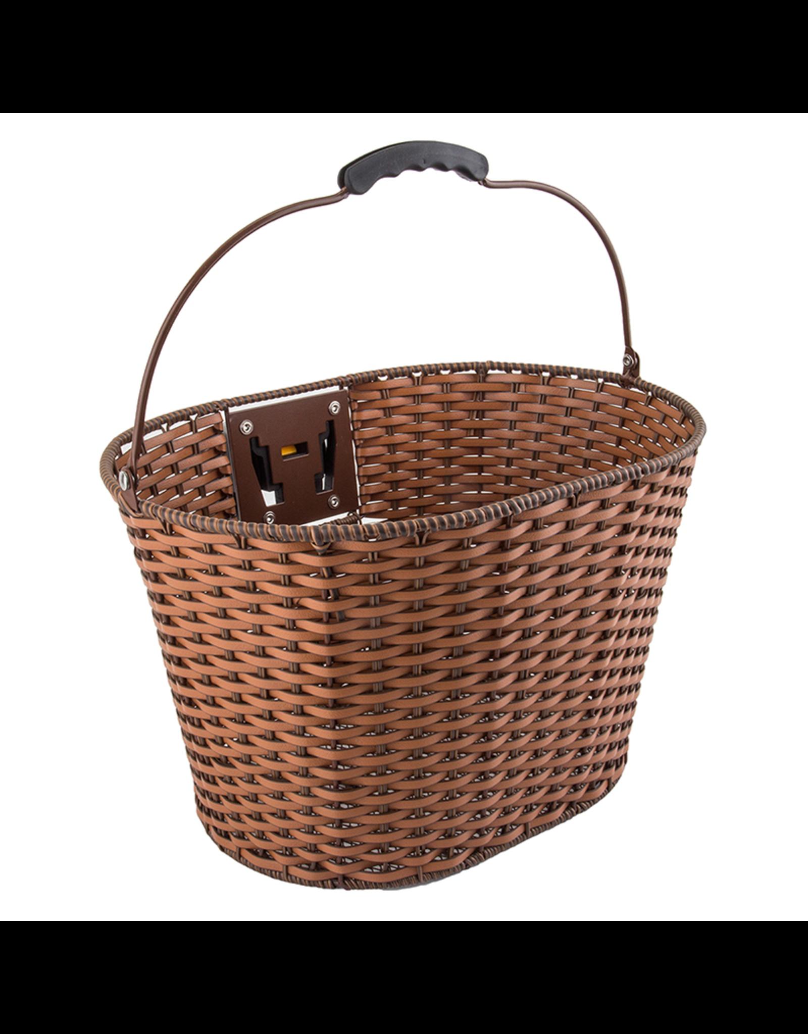 Sunlite Front Basket SunLite Rattan Q/R Brown w/bracket
