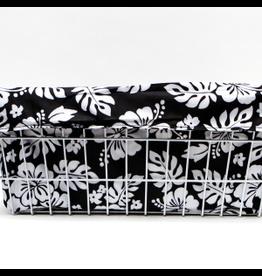 Cruiser Candy Cruiser Candy Large Basket Trike Liner - Black & White Hibiscus