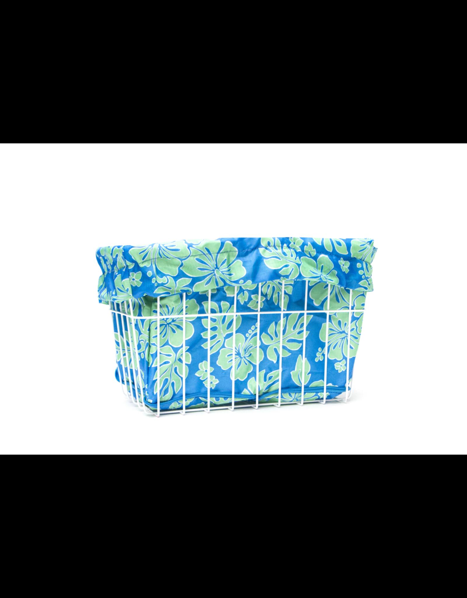 Cruiser Candy Cruiser Candy Basket Liner - Blue Lanai Hibiscus