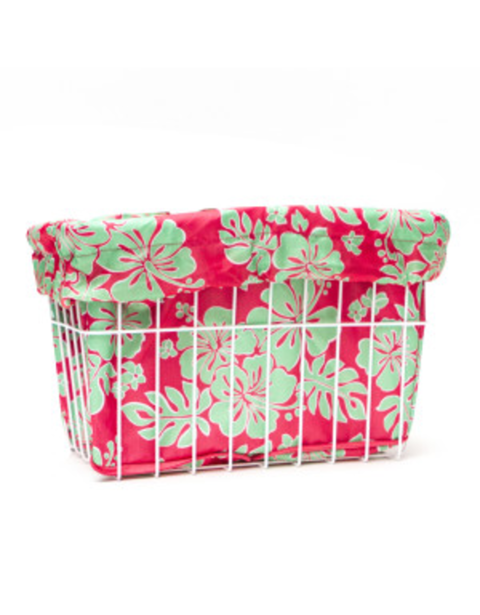Cruiser Candy Cruiser Candy Basket Liner - Coral Ray Hibiscus