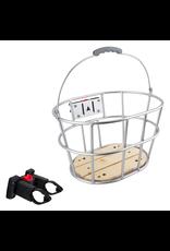Sunlite Sunlite Front Basket - Woody QR, Gray With Wood Floor