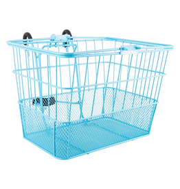 Sunlite Sunlite/Ultracycle Front Basket - Mesh Bottom Lift-Off, Baby Blue