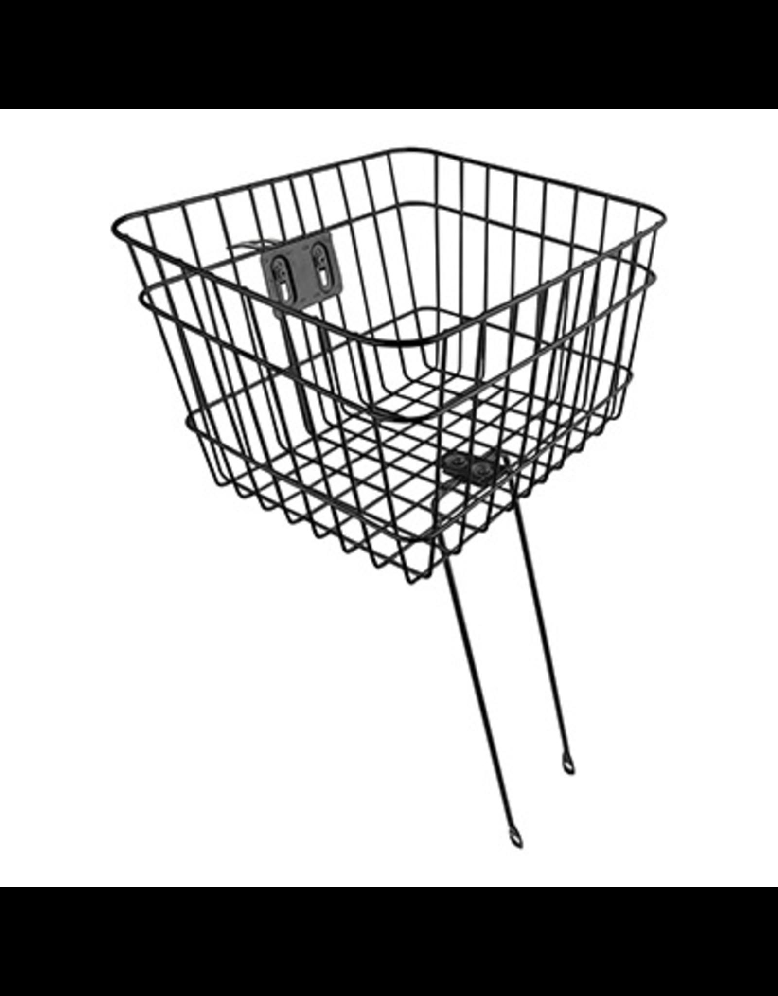 """Sunlite Sunlite Front Basket - Bolt-On, Large (14.5x12x9.5""""), Black"""