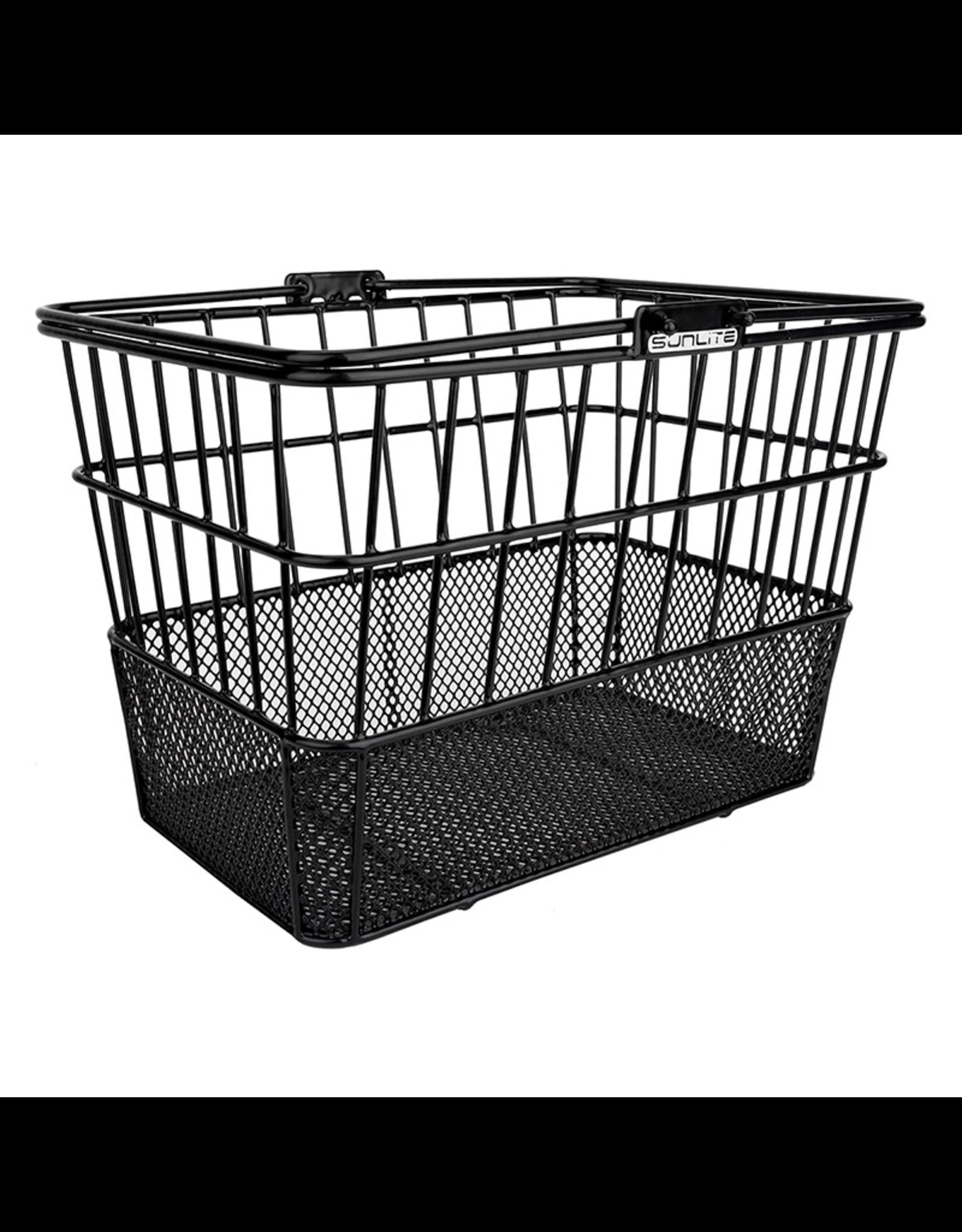 Sunlite Sunlite/Ultracycle Front Basket - Mesh Bottom Lift-Off, Black