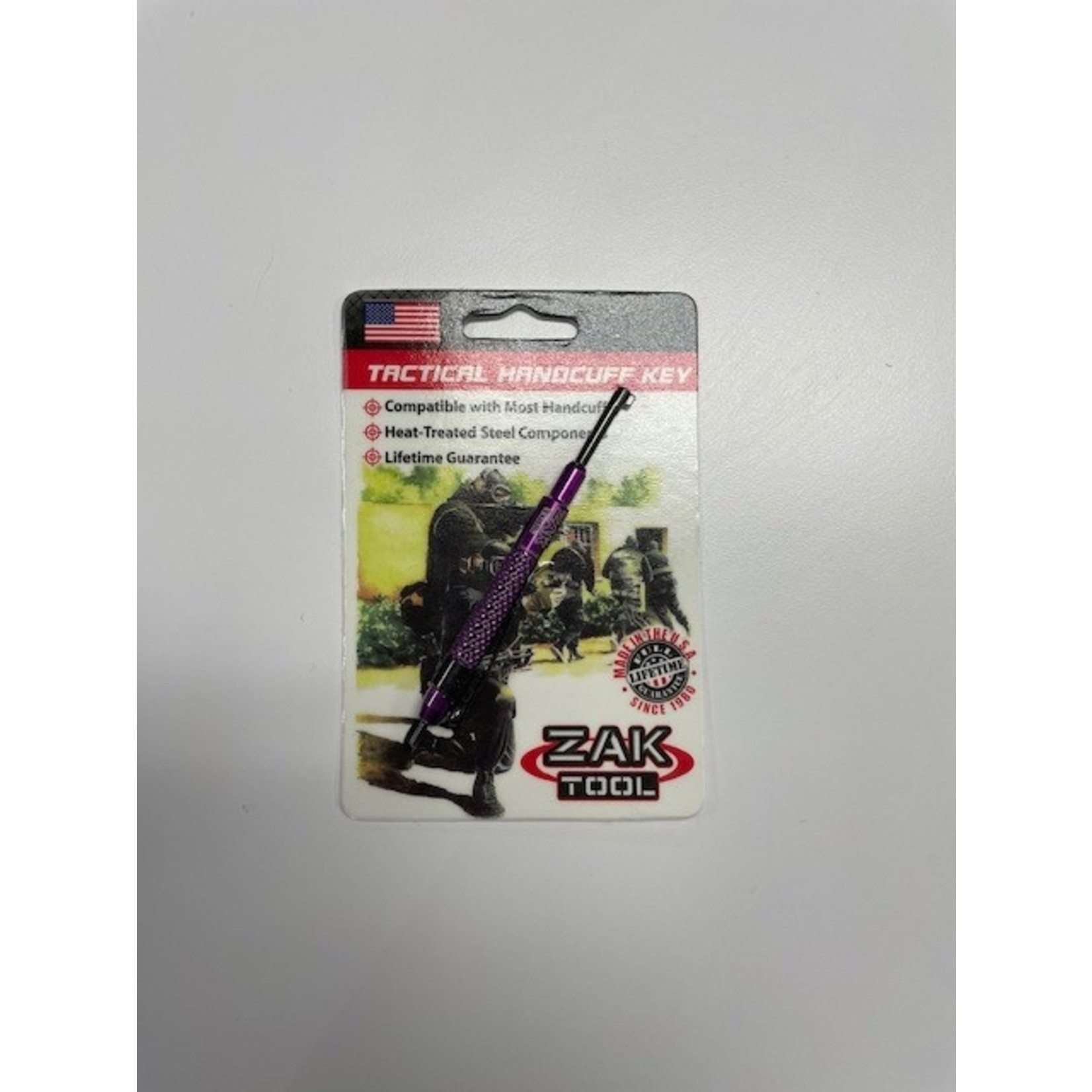 Zak Tool Zak Tool- ZT13-PRPL Tactical Handcuff Key