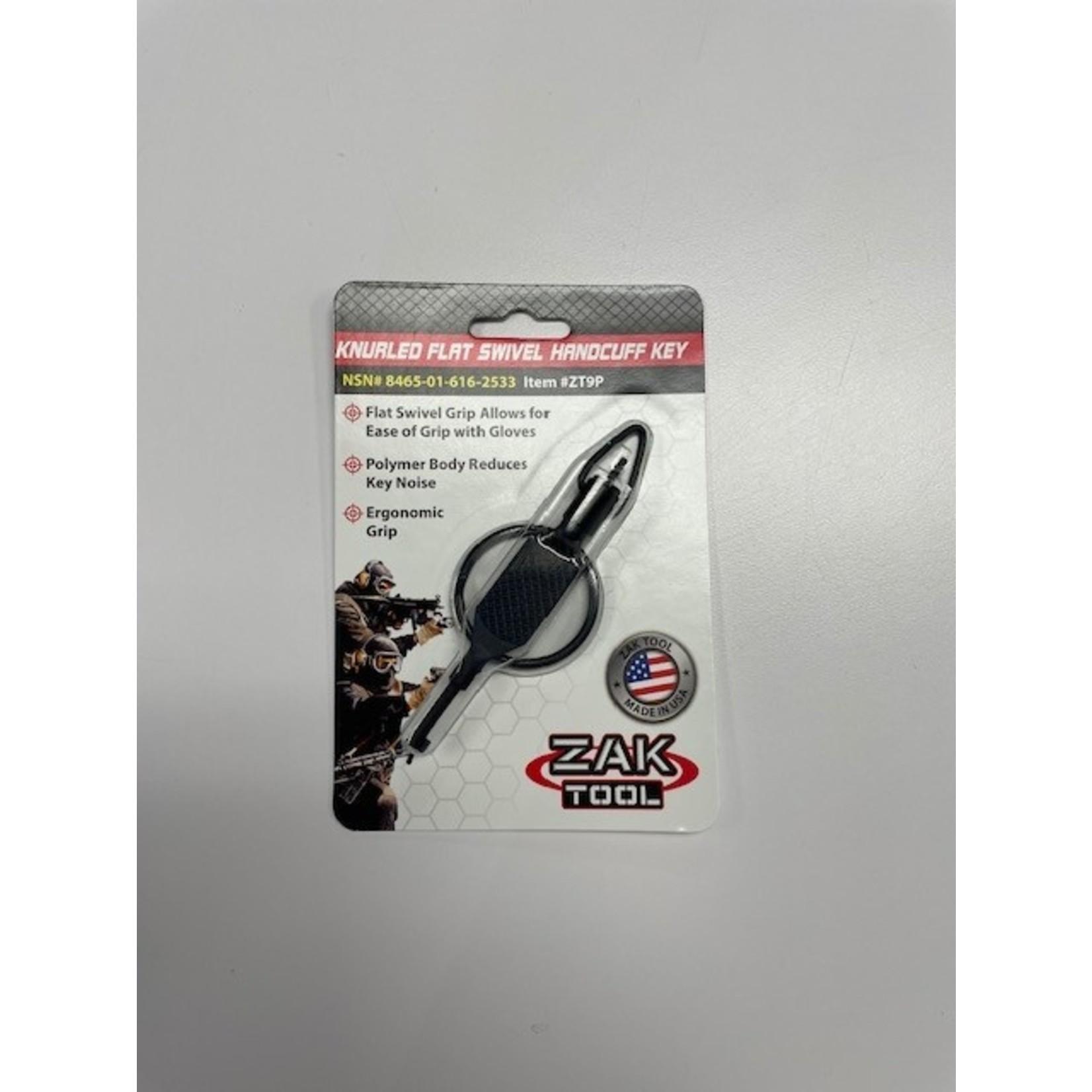 Zak Tool Zak Tool  ZT9P Knurled Flat Swivel Handcuff Key