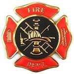 Klarus Tactical Innovations Chrome Morale Patch-Fire Department