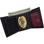 306 Tactical Genuine Leather Tri-Fold Badge Wallet