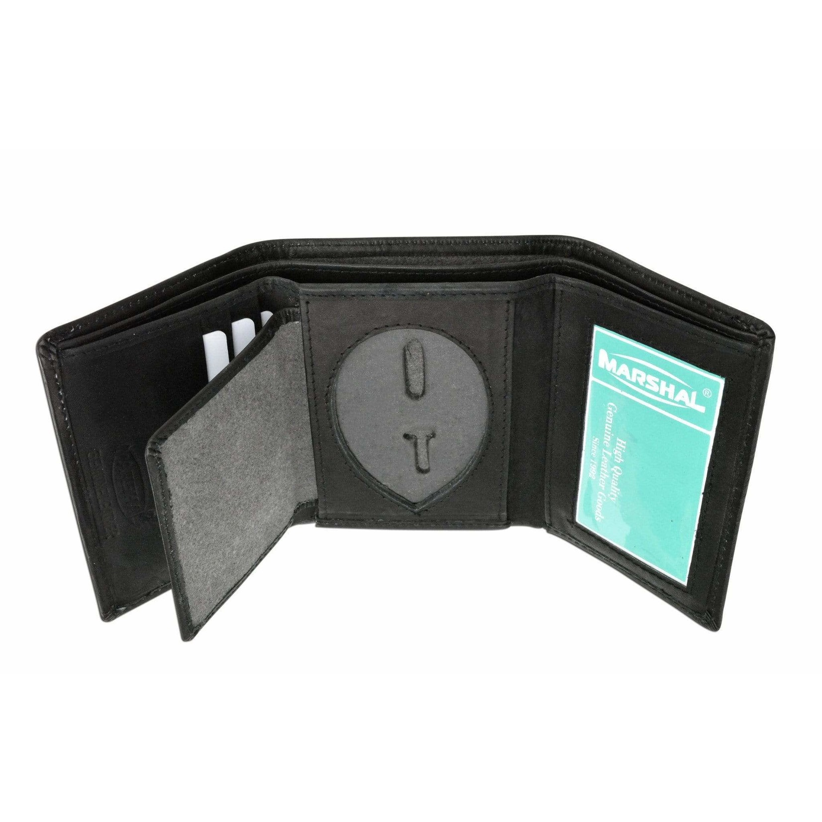 306 Tactical Canadian Genuine Leather Tri-Fold Badge Wallet