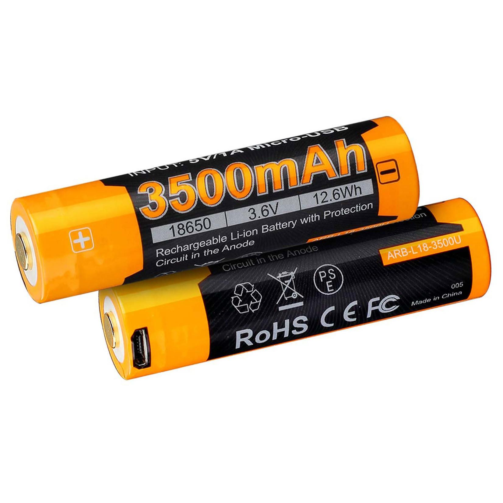 Fenix Fenix 3500mAh Rechargeable Battery 18650