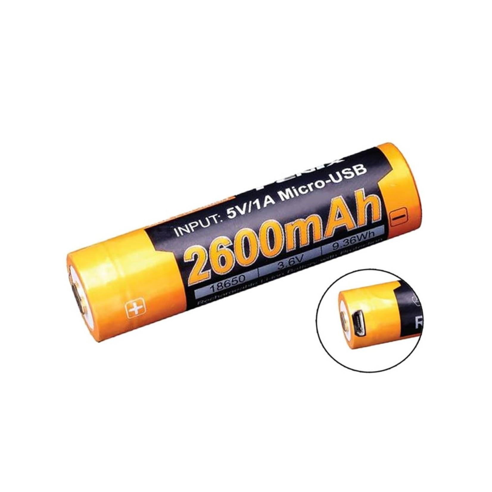 Fenix Fenix 2600mAh Rechargeable Battery 18650