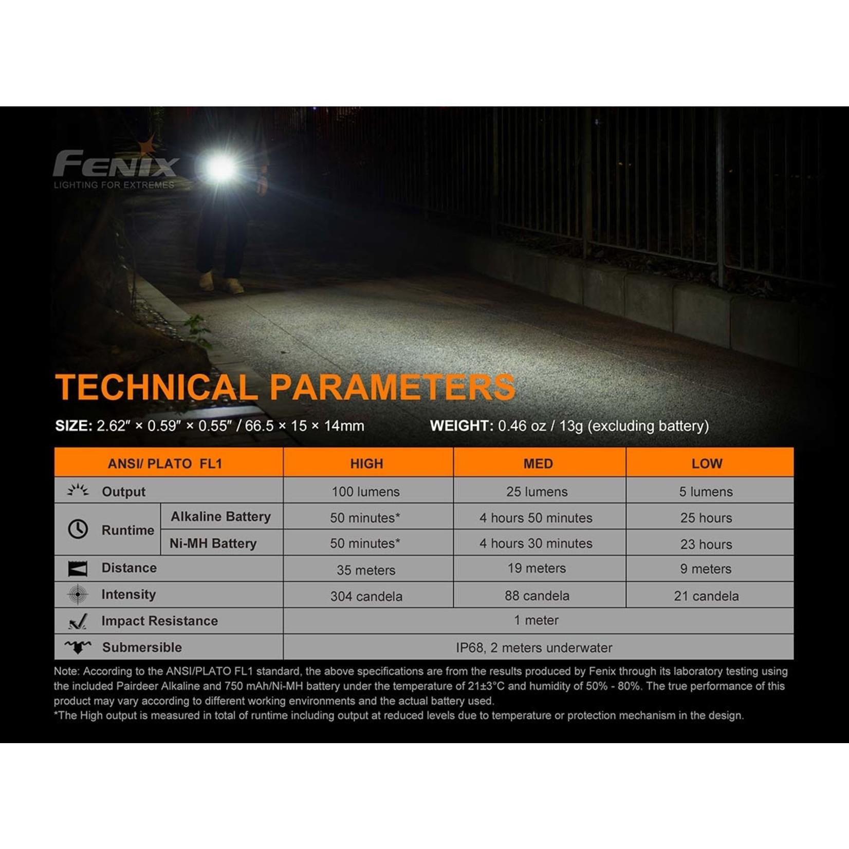 Fenix Fenix E01 V2.0 Mini EDC Flashlight (Blue)