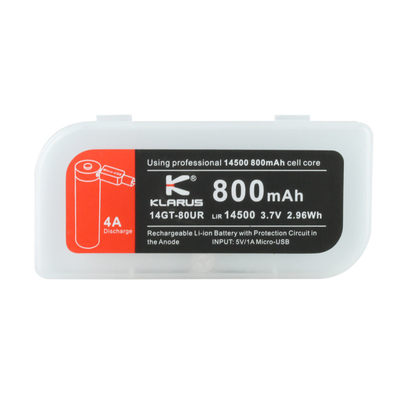 Klarus Klarus 14500 800 mAh Rechargeable battery