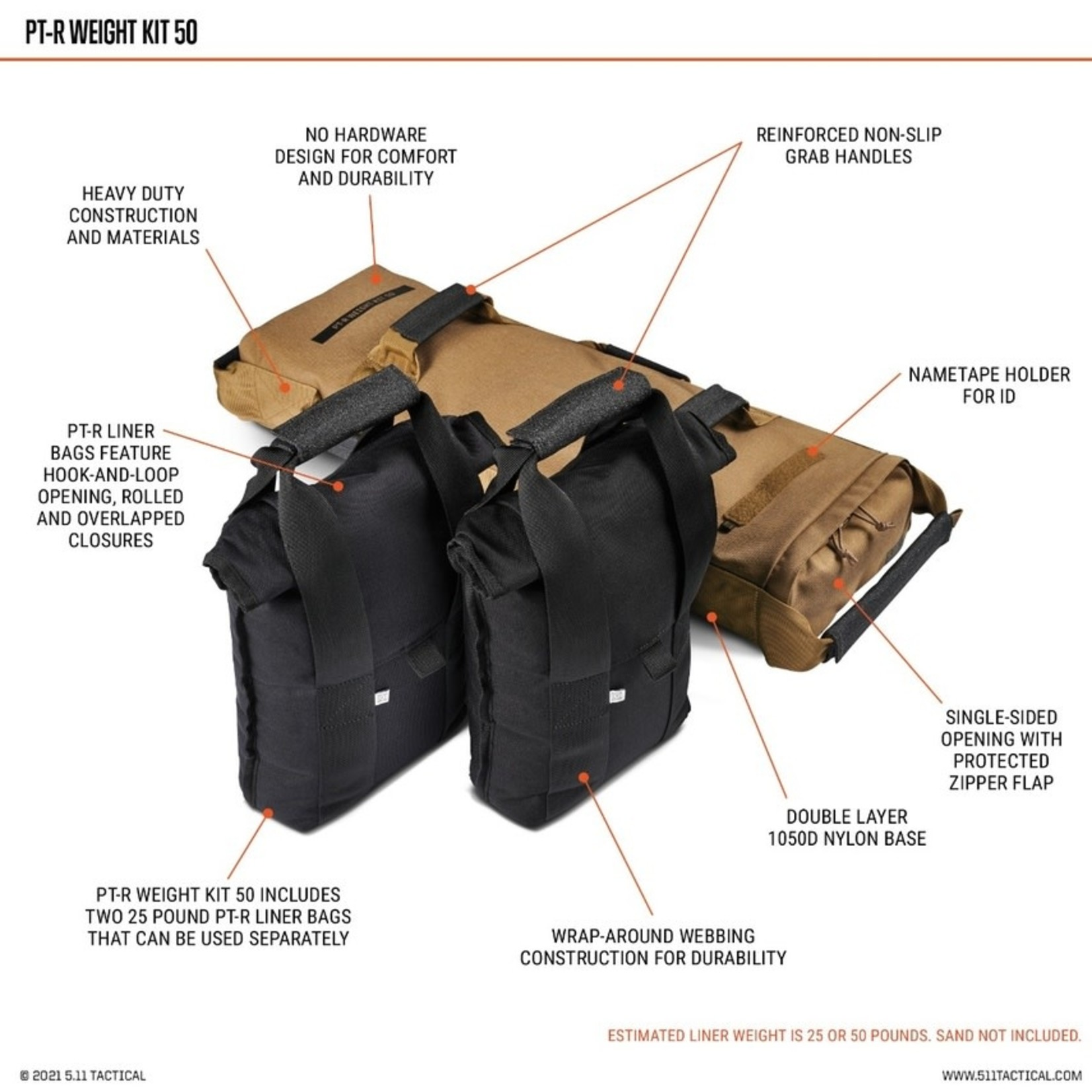 5.11 Tactical 5.11 PT-R Weight Kit 50;bs
