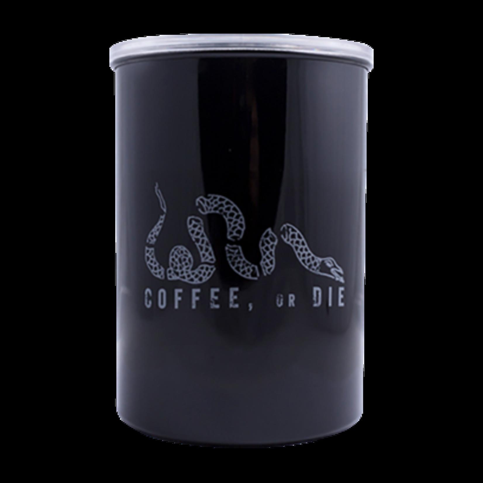 Black Rifle Coffee Black Rifle Coffee - Coffee, or Die Airtight Container - White Logo