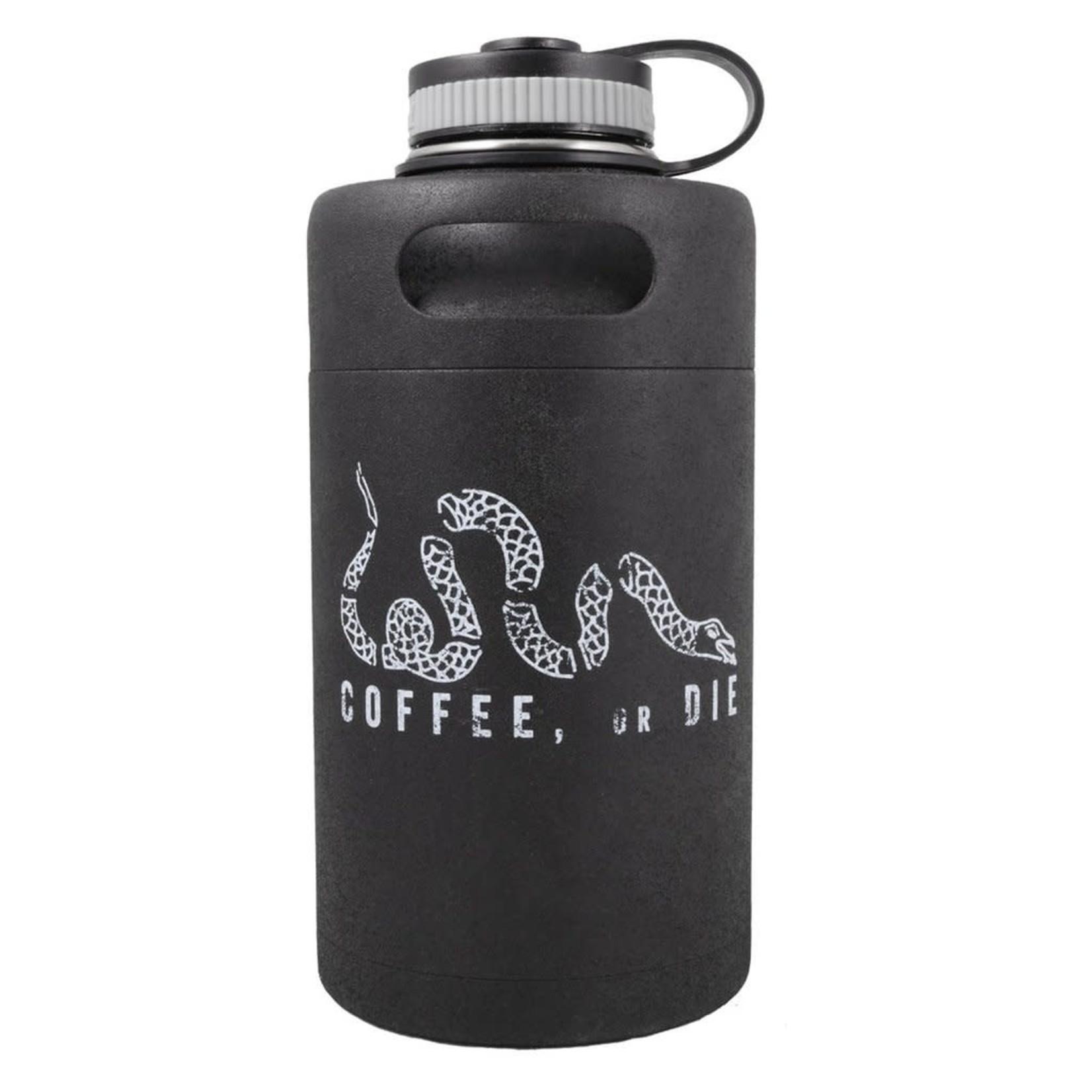 Black Rifle Coffee Black Rifle Coffee Vintage Logo Textured Growler - Matte Black