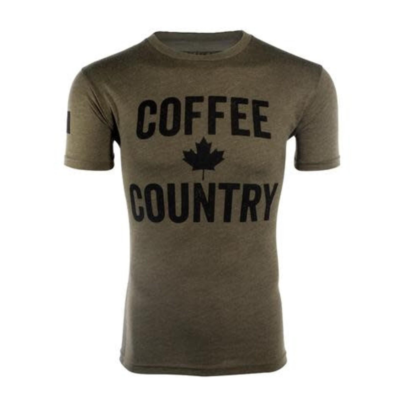 Black Rifle Coffee Black Rifle Coffee Company Shirt-Coffee Country Shirt- Green- Large