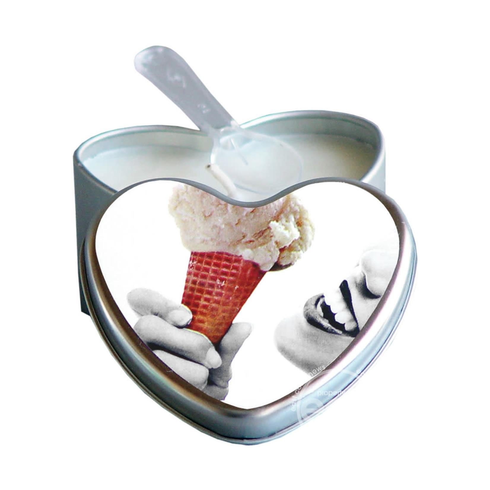 Earthly Body Heart-Shaped Hemp Seed Edible Massage Candle Vanilla 4oz
