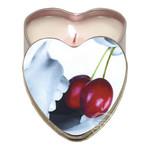 Earthly Body Heart-Shaped Hemp Seed Edible Massage Candle Cherry 4oz