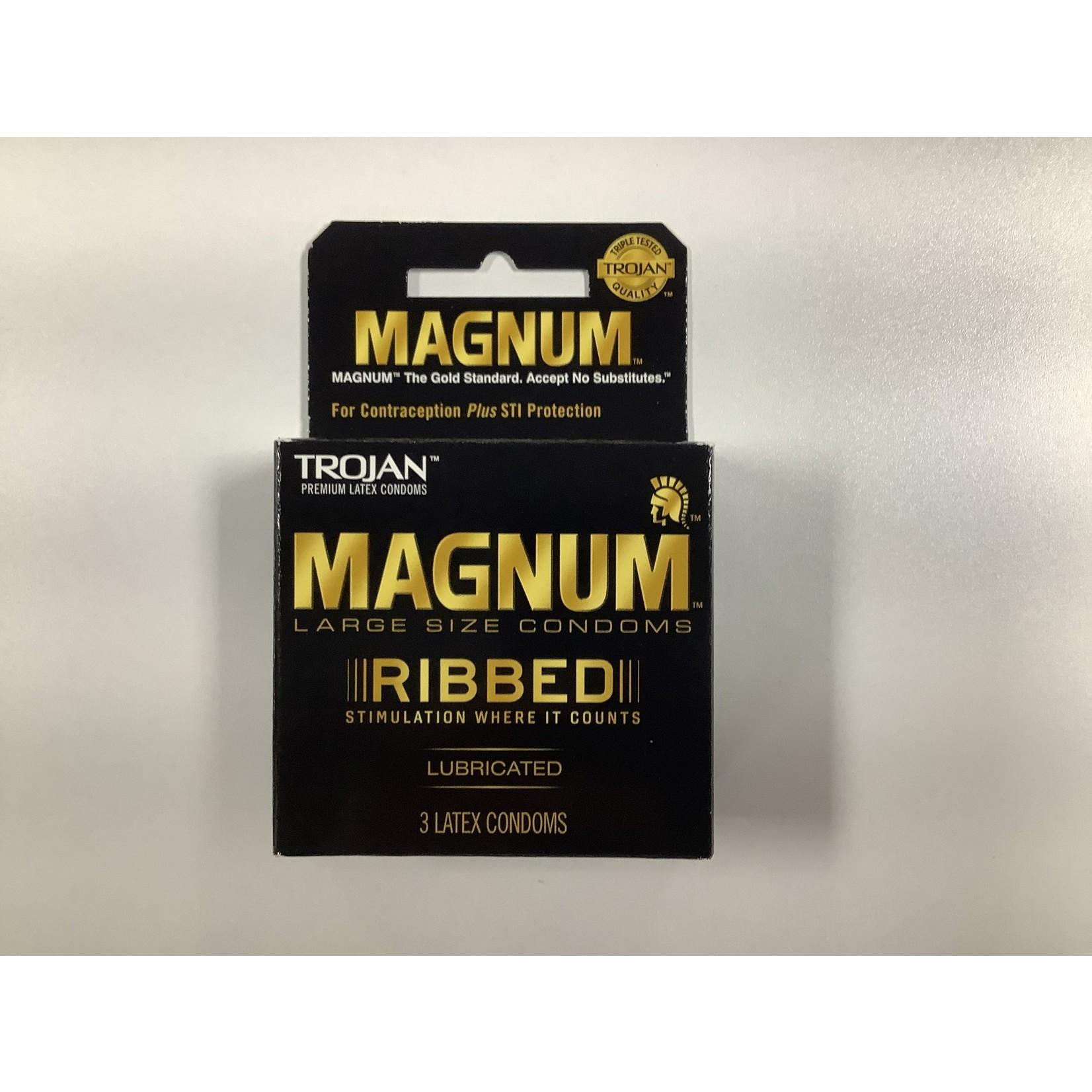 Trojan Magnum Ribbed (3 Pack)