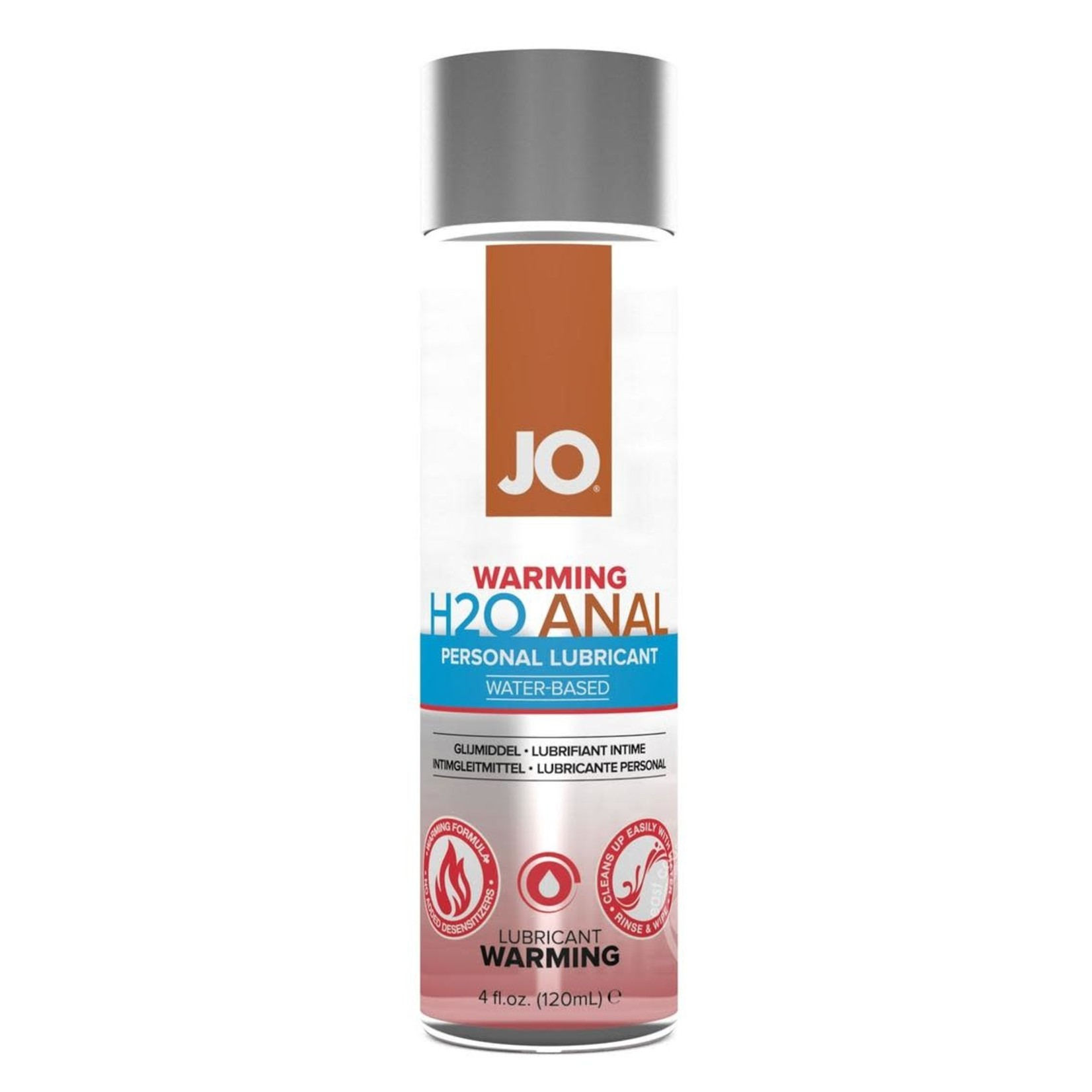 JO H2O Water Based Warming Lubricant 4oz