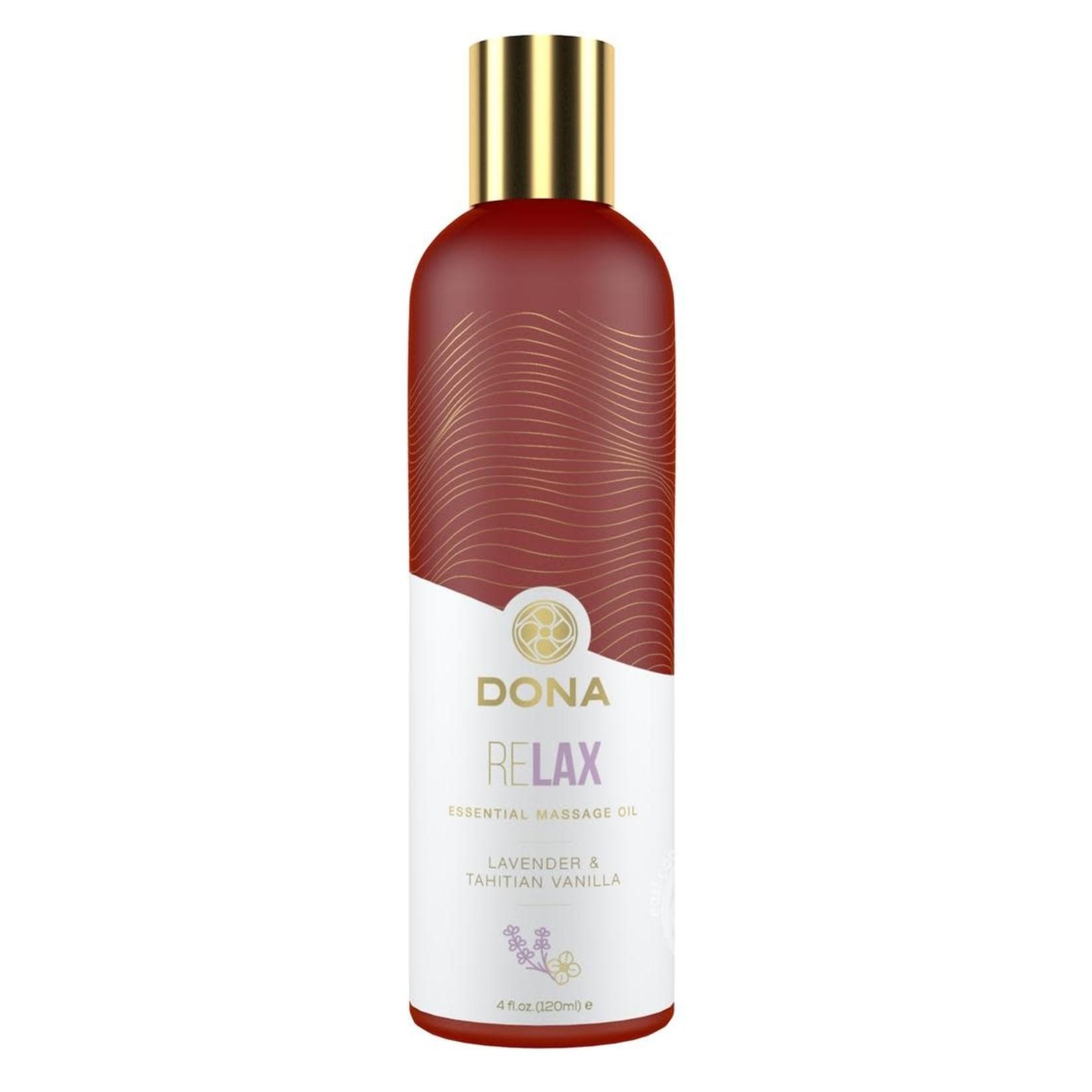Dona Relax Vegan Massage Oil Lavender & Tahitan Vanilla 4oz